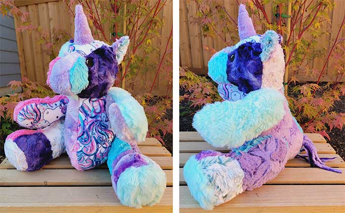 Unicorn Keepsake Pattern sewn by Alyssa King