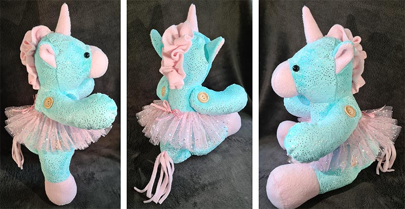 Unicorn Keepsake Pattern sewn by Hayley Sayers,Soft Federation
