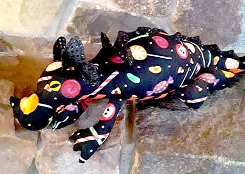 Dragon Pattern sewn for Halloween by LuannAllisonLarson