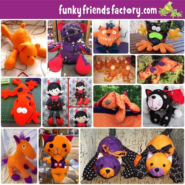 Halloween toys collage