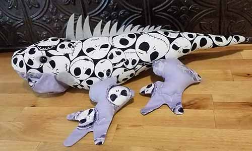 Iguana Pattern sewn for Halloween by DawnRimby