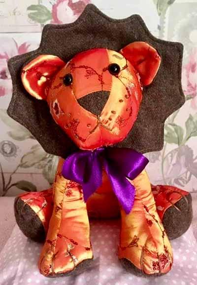 Lion Pattern sewn for Halloween -Vicki-JaneWheeler