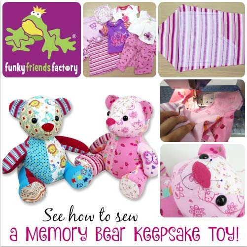 How To Sew A Memory Toy Keepsake Teddy Bear Funky Friends Factory