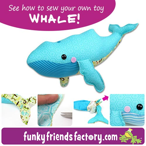 Introducing my new Whale toy pattern... | Funky Friends Factory