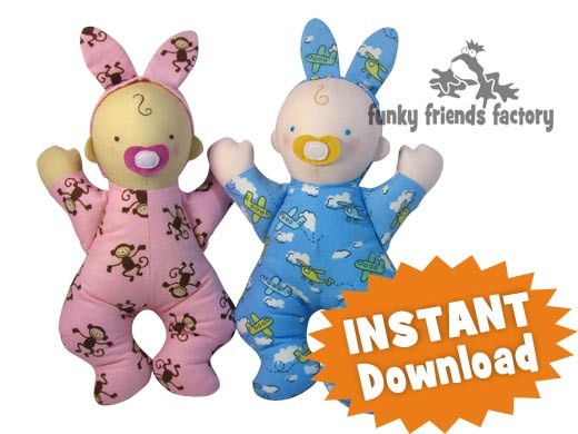 Bedtime Baby Doll INSTANT DOWNLOAD Sewing Pattern PDF