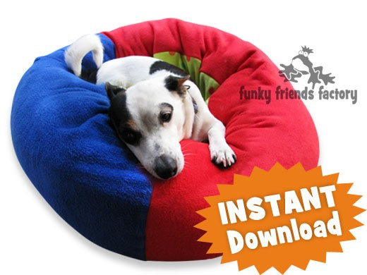 Cat And Dog Fleece Donut Bed Instant Sewing Pattern Pdf