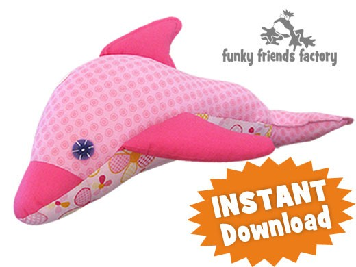 Dizzy Dolphin INSTANT DOWNLOAD Sewing Pattern PDF