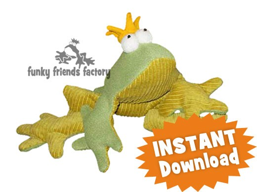 Frog Prince Charming Instant Download Sewing Pattern Pdf