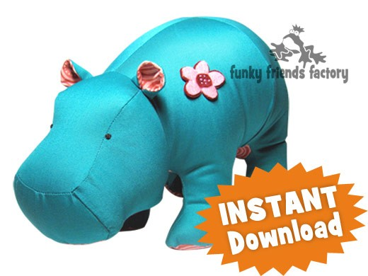 Heather Hippo INSTANT DOWNLOAD Sewing Pattern PDF