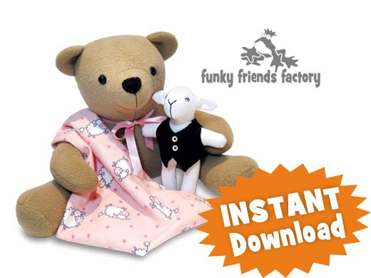 Izzy Insomniac Teddy Bear INSTANT DOWNLOAD Sewing Pattern PDF