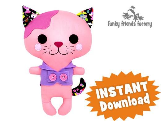 Kawaii Kuties - Easy DOG INSTANT DOWNLOAD Sewing Pattern PDF