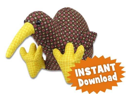 Kiri Kiwi Bird INSTANT DOWNLOAD Sewing Pattern PDF - 10 for $90