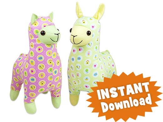 Lloyd LLAMA & Alice ALPACA INSTANT DOWNLOAD Sewing Pattern PDF