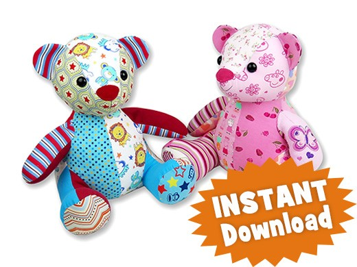 Melody Memory Bear Keepsake Toy INSTANT DOWNLOAD Sewing Pattern PDF ...