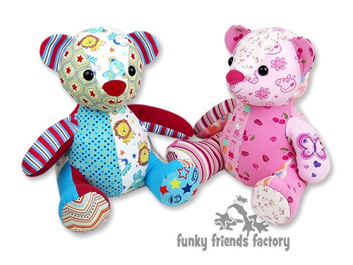 photo regarding Free Teddy Bear Patterns Printable identified as Melody Memory Endure Keepsake Toy Prompt Down load Sewing
