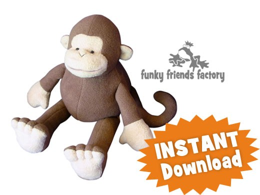 Mitch The Monkey Instant Download Sewing Pattern Pdf