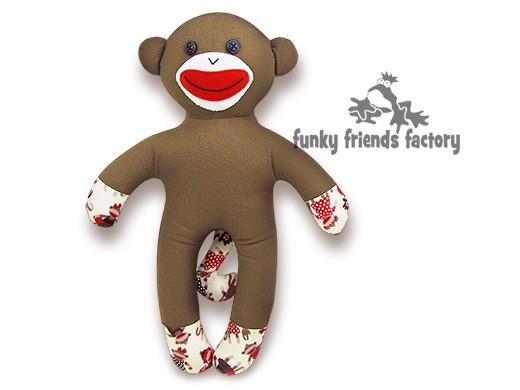 Shelby NO SOCK Sock Monkey INSTANT DOWNLOAD Sewing Pattern PDF