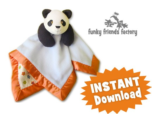Panda Baby Blanket INSTANT DOWNLOAD Sewing Pattern PDF