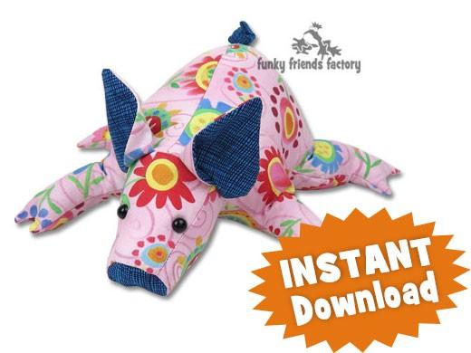 Petunia Pig INSTANT DOWNLOAD Sewing Pattern PDF