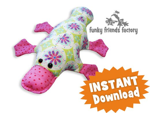 Plattie Platypus Instant Download Sewing Pattern Pdf