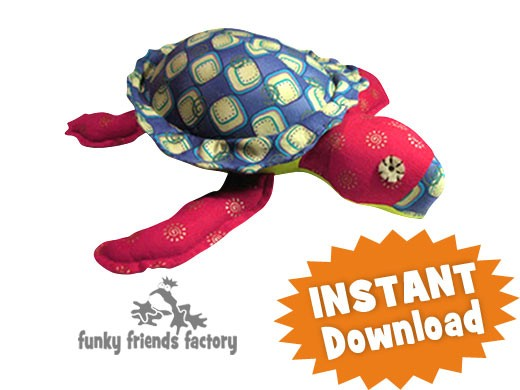 Stu the Sea Turtle INSTANT DOWNLOAD Sewing Pattern PDF