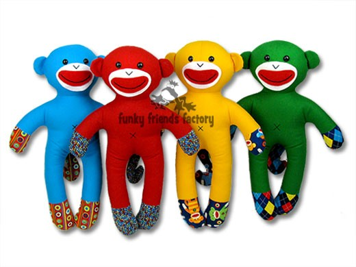Shelby NO SOCK Sock Monkey INSTANT DOWNLOAD Sewing Pattern PDF