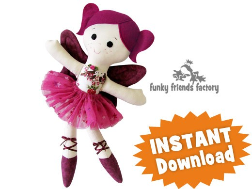 Sugar Plum Fairy CHRISTMAS Cloth Doll INSTANT DOWNLOAD Sewing ...
