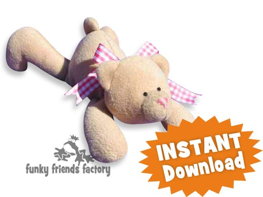 Honey the Easy Teddy Bear INSTANT DOWNLOAD Sewing Pattern PDF