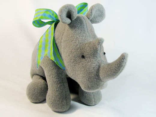 Soft Toy Patterns : Randy rhino instant download sewing pattern pdf