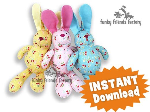 Free Pattern For Soft Toy Rabbit 41
