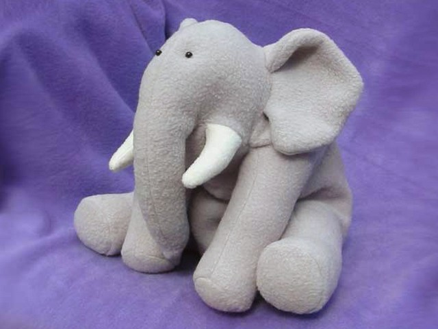 Elephant Stuffed Toy : Ellie elephant instant download sewing pattern
