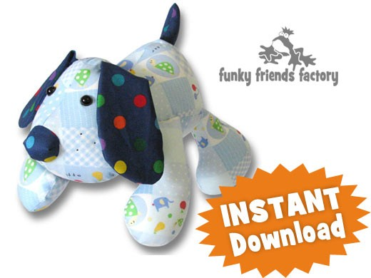 Soft Toy Patterns : Puppy dog pete instant download sewing pattern pdf