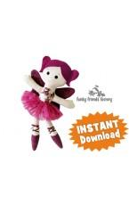 Sugar Plum Fairy CHRISTMAS Cloth Doll Pattern