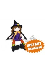 witch doll sewing pattern PDF