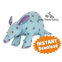 Artie Aardvark  INSTANT DOWNLOAD Sewing Pattern PDF