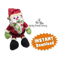 All I want for Christmas SANTA Sewing Pattern PDF
