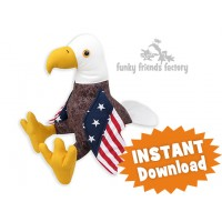 Bill the Bald Eagle Sewing Pattern PDF
