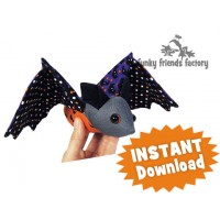 Batty BAT & Boo the Ghost INSTANT DOWNLOAD Sewing Pattern PDF