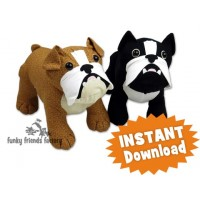 French Bulldog stuffed animal toy-Pauline McArthur