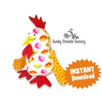 Chook/Chicken Soft Toy Sewing Pattern INSTANT DOWNLOAD