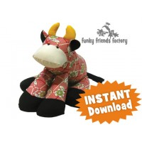 Cow (oops!) Patty the Cow INSTANT DOWNLOAD Sewing Pattern PDF