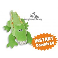 Crocodile Steve toy Sewing Pattern