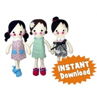 Daisy DRESS-UP Doll INSTANT DOWNLOAD Sewing Pattern PDF