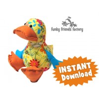 Dilby Duckling Soft Toy Sewing Pattern INSTANT DOWNLOAD