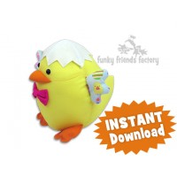 Egghead Easter Chick  INSTANT DOWNLOAD Sewing Pattern PDF