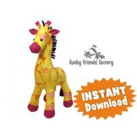 Raff the Giraffe PRINTED Soft Toy Sewing Pattern