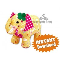 Georgie the GOOD LUCK Elephant INSTANT DOWNLOAD Sewing Pattern PDF