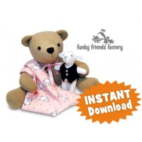 Izzy Insomniac Teddy Bear Sewing Pattern INSTANT DOWNLOAD
