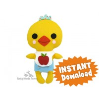 Kawaii Kuties - Easy CHICKEN Sewing Pattern PDF download