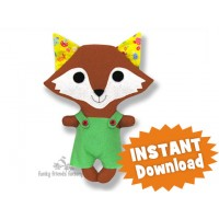 Kawaii Kuties - Easy FOX INSTANT DOWNLOAD Sewing Pattern PDF